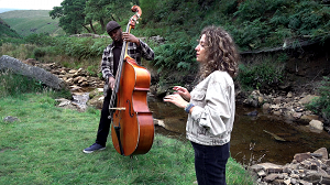 Chronotope: Tess Hirst & Daniel Casimir performing on Marsden Moor